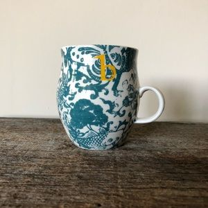 "Anthropologie Homegrown ""B"" Monogram Mug"